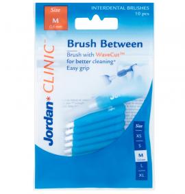 Jordan Clinic Interdental Brush Medium 0.6mm Μπλέ 10τμχ