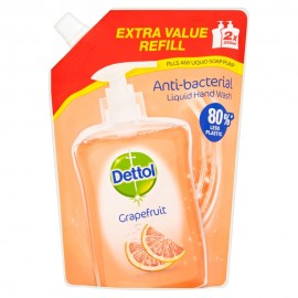 Dettol Soothe Refill Ανταλλακτικό Αντιβακτηριδιακό Υγρό Κρεμοσάπουνο Σακουλάκι Grapefruit 500ml