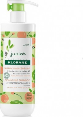 Klorane Petit Junior Shampoo with Peach Fragrance Απαλό - Προστατευτικό Παιδικό Σαμπουάν με άρωμα Ροδάκινο, 500ml