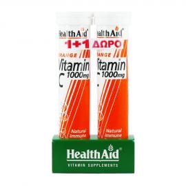 Health Aid Vitamin C 1000mg με Γεύση Πορτοκάλι 20tabs 1+1 Δώρο