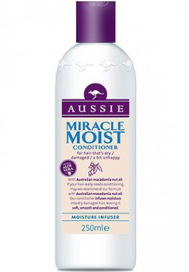 AUSSIE Miracle Moist Conditioner Μαλακτική κρέμα για ξηρά, αφυδατωμένα & κατεστραμμένα μαλλιά 250ml