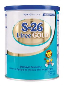 Wyeth Γάλα S-26 Gold Lfree (από τη γέννηση) 400gr