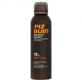 Piz Buin Instant Glow Skin Illuminating Sun Spray SPF15 Αντηλιακό Σπρέι Μέτριας Προστασίας 150ml