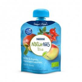 Nestle NaturNes Bio με Μήλο & Καρπός Αγριοτριανταφυλλιάς 90gr
