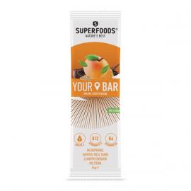 Superfoods Your Bar με Βερίκοκο, Χαρούπι, Μέλι, Ταχίνι και Μαύρη Σοκολάτα με Στέβια 45gr