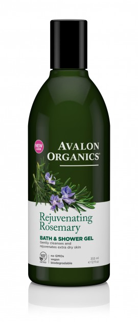 Avalon Organics Rejuvenating Rosemary Bath & Shower Gel 355ml
