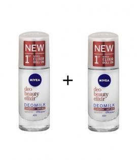 Nivea Deo Milk Beauty Elixir Sensitive Roll-On 40ml 1+1 Δώρο