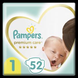 Pampers Premium Care Πάνες Μέγεθος No1 Newborn (2-5kg) 52 Πάνες