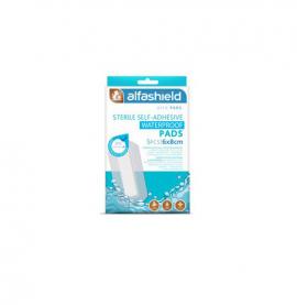 Alfashield Sterile Self - Adhesive Waterproof Pads Αδιάβροχα Αποστειρωμένα Αυτοκόλλητα Επιθέματα 6x8cm 5τμχ