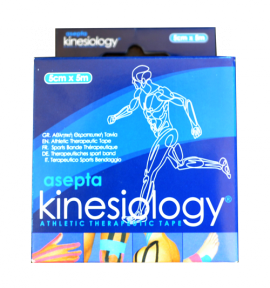 ASEPTA Kinesiology tape χρώματος Γαλάζιο, 5cmX5m