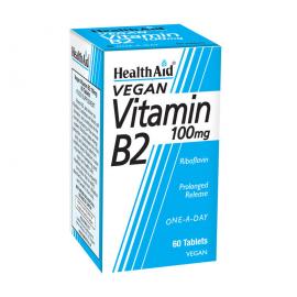 HEALTH AID VITAMIN B2 (RIBOFLAVIN) 100mg TABLETS 60s