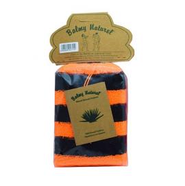 Vican Balmy Naturel Polyester Sponge Σφουγγάρι Μπάνιου Πορτοκαλί-Μαύρο 1τμχ
