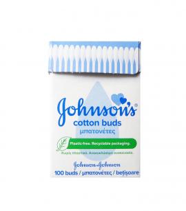 Johnsons Cotton Buds σε Ανακυκλώσιμη Συσκευασία 100 Μπατονέτες