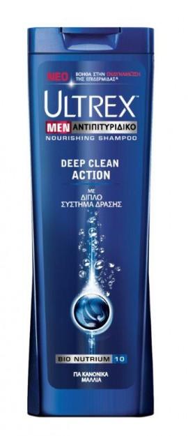 Ultrex Men Αντιπιτυριτιδικό Σαμπουάν για Κανονικά Μαλλιά Deep Clean Action 360ml