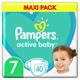 Pampers Active Baby Maxi Pack No.7 (15+kg) 40τμχ