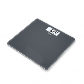 Beurer GS 213 Glass Bathroom Scale Ζυγαριά Δαπέδου με Μεγάλη οθόνη LCD Black 180 Kg 1τμχ