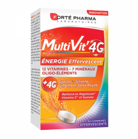 Forte Pharma Multivit 4G Τονωτική Αναβράζουσα Πολυβιταμίνη 30 Αναβράζοντα Δισκία Πλούσια σε Βιταμίνη C