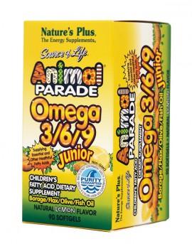 NATURES PLUS Animal Parade Omega 3 6 9 Junior 90tabs