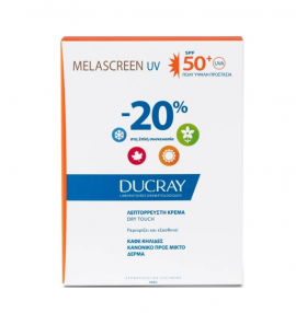 Ducray Melascreen UV SPF50 Light Cream Dry Touch Brown Spots Normal to Combination Skin 2x40ml -20%