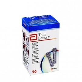 ABBOTT THIN LANCETS x 50 βελόνες για μέτρηση σακχάρου