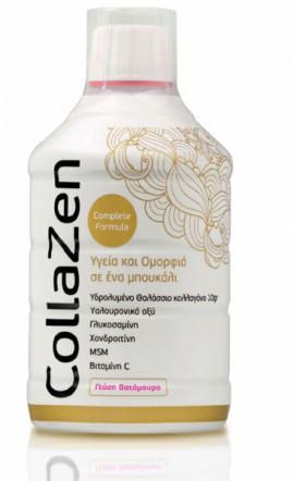 Collazen Collazen+ Complete Formula Υδρολυμένο Θαλάσσιο Κολλαγόνο με Γεύση Βατόμουρο 500ml
