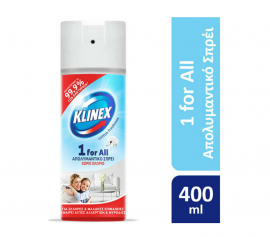 Klinex Απολυμαντικό Σπρέι 1for all Cotton Freshness 400ml