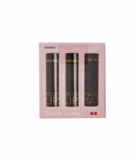 Korres Set Morrello Lipstick Creamy Lipstick 04 Λαχταριστό Μελί 3,5g + 56 Ζουμερό Κερασί 3.5g + Matte Lipstick 54 Classic Red Matte 3.5g -50%