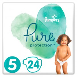 Pampers Pure Protection No.5 (11+kg) 24 Πάνες