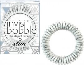 Invisibobble Slim Marblelous Shiny Grey 3τμχ