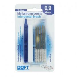 Doft Interdental Brush Μεσοδόντια Βουρτσάκια 0,9mm 12τμχ