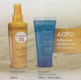 Bioderma Photoderm Spray SPF30 200ml + ΔΩΡΟ Atoderm Gel Douche 100ml