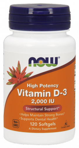 Now Foods Vitamin D3 2.000 IU 120 Softgels