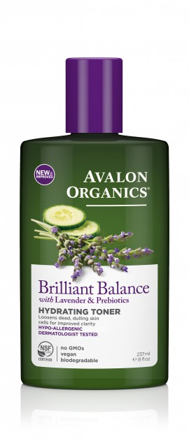 Avalon Organics Brilliant Balance With Lavender & Prebiotics Hydrating Toner 237ml