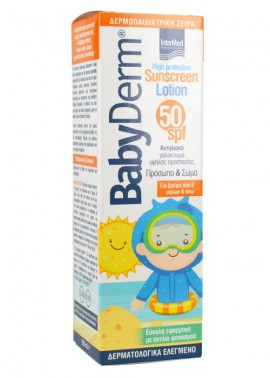 INTERMED BABYDERM SUNSCREEN LOTION FACE & BODY 50SPF 200ML