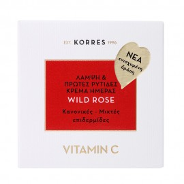 Korres Άγριο Τριαντάφυλλο Vitamin C Κρέμα Ημέρας για Κανονικές - Μικτές Επιδερμίδες 40ml