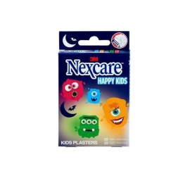 Nexcare Happy Kids Παιδικοί Αυτοκόλλητοι Μικροεπίδεσμοι Τερατάκια 20τμχ