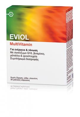 Eviol MultiVitamin Για Ενέργεια & Τόνωση 30 Μαλακές Κάψουλες