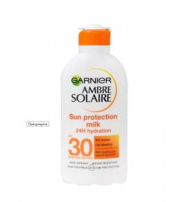 Garnier Ambre Solaire Sun Protection Milk 24h Hydration SPF30 200ml