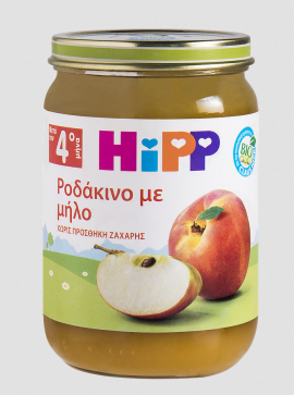 HIPP Βρεφική Φρουτόκρέμα με Ροδάκινο και Μήλο 190g