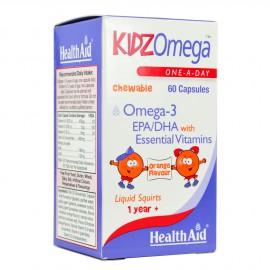 HEALTH AID KIDZOMEGA 3 + VITAMINS CHEWABLE 60CAPS