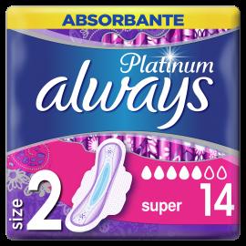 Always Platinum Ultra Super Plus Size2 14τμχ