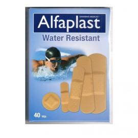 Alfaplast Water Resistant Αδιάβροχα Αυτοκόλλητα Επιθέματα σε Πέντε Μεγέθη 40τμχ