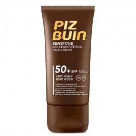Piz Buin Sensitive Face Cream SPF50+ Αντηλιακή Κρέμα Προσώπου για τις Ευαίσθητες Επιδερμίδες 50ml