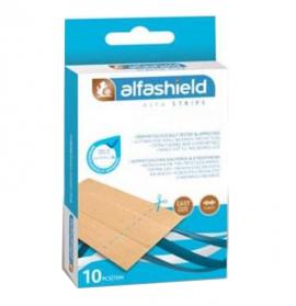 Alfashield Strips Smooth Flex Αυτοκόλλητα Επιθέματα 100x60mm 10τμχ