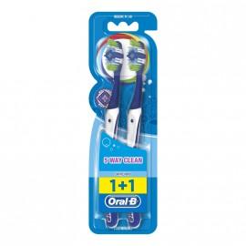 Oral-B Complete Clean 5 Way 40 Medium Οδοντόβουρτσα 2τμχ.