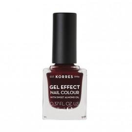 Korres Βερνίκι Νυχιών Gel Effect Nail Colour No57 Burgundy Red 11ml