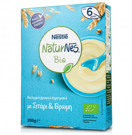 Nestle NaturNes Bio Βιολογικά Βρεφικά Δημητριακά με Σιτάρι & Βρώμη 200gr