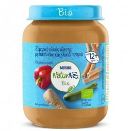Nestle Naturnes Bio Βιολογική Παιδική Τροφή Ζυμαρικά Ολικής Άλεσης με Παστινάκη & Γλυκιά Πιπερία 190gr