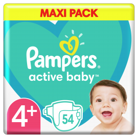 Pampers Active Baby Maxi Pack No.4+ (10-15 kg) 54 Πάνες