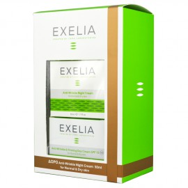 Exelia Anti-Wrinkle & Firming Day Cream SPF15 UVA for Normal & Dry skin 50ml + ΔΩΡΟ Night Cream Normal & Dry skin 50ml